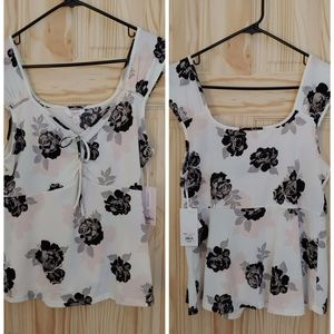 NWT Candies Size L floral top